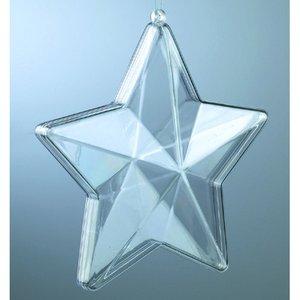 Billigtpyssel.se | Plastform 140 mm - kristallklar stjärna