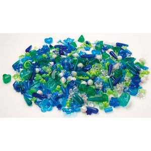 Billigtpyssel.se   Plastpärlor blå & grön