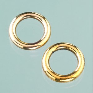 Billigtpyssel.se | Plastringar ø 18 mm - åldrat guld 6 st.