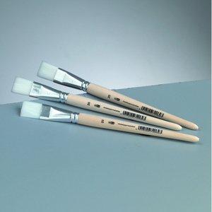 Billigtpyssel.se | Platt pensel syntetiskt hår Gr. 20 /