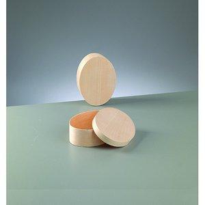 Billigtpyssel.se | Plywoodask ø 150 x 110 mm H 50 mm - obehandlat oval