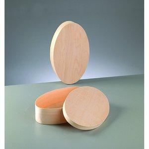 Billigtpyssel.se | Plywoodask ø 250 x 150 mm H 60 mm - obehandlat oval