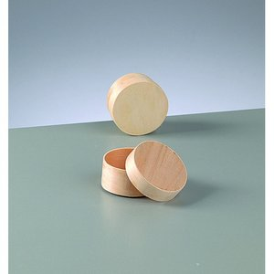 Billigtpyssel.se | Plywoodask ø 55 mm H 30 mm - obehandlat rund