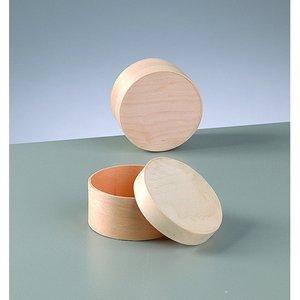 Billigtpyssel.se | Plywoodask ø 75 mm H 40 mm - obehandlat rund