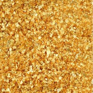 Billigtpyssel.se | Riktiga guldflingor med ströburk - 23 karat 100 mg för att dekorera mat