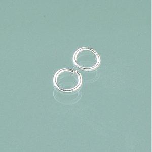 Billigtpyssel.se | Ringögla ø 6 mm - försilvrad 20-pack runda
