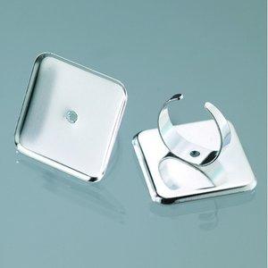 Billigtpyssel.se | Ring för mosaik 29 x 29 mm - försilvrad kvadrat