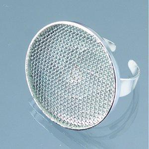 Billigtpyssel.se   Ring med sil ø 25 mm - försilvrad runt