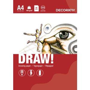 Billigtpyssel.se | Ritblock DRAW A4 (160g) - 50 ark