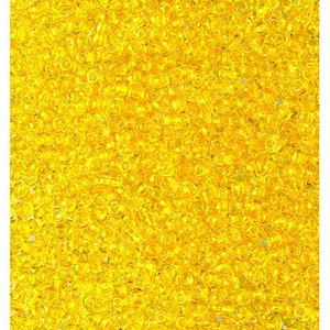Billigtpyssel.se | Rocaillespärlor genomskinliga - gul