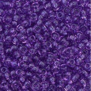 Billigtpyssel.se | Rocaillespärlor genomskinliga - lila
