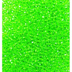 Billigtpyssel.se | Rocaillespärlor genomskinliga - ljusgrön
