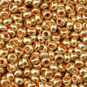 Billigtpyssel.se | Rocaillespärlor metallic - rött guld