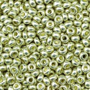 Billigtpyssel.se | Rocaillespärlor metallic - silver