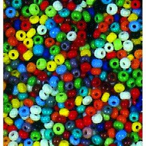 Billigtpyssel.se   Rocaillespärlor ogenomskinliga - blandade färger