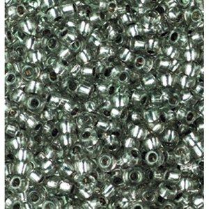 Billigtpyssel.se   Rocaillespärlor silverlinjerade - grå 17