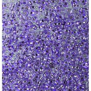 Billigtpyssel.se   Rocaillespärlor silverlinjerade - violett