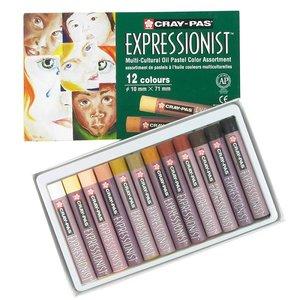 Billigtpyssel.se   Sakura Cray-Pas Expressionist Multi Cultural set 12 kritor