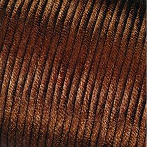 Billigtpyssel.se | Satinsnöre 2 mm - 50 meter - choklad