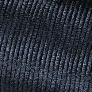 Billigtpyssel.se | Satinsnöre 2 mm - 50 meter - svart