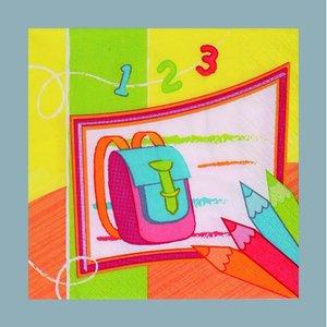 Billigtpyssel.se | Servett - 3 lager 33 x 33 cm - gula flera färger 20-pack Skolstart