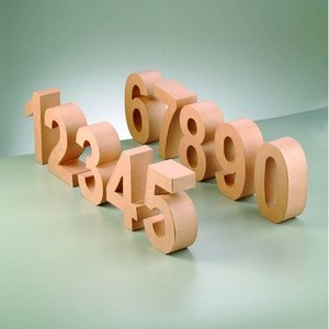 Billigtpyssel.se | Siffror PappArt - H 10 x D 3 cm