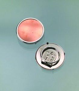 Billigtpyssel.se | Sjalsclip för emaljering ø 36 mm - silverfärgad rund
