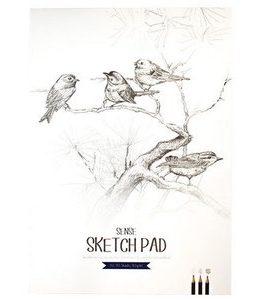 Billigtpyssel.se | Skissblock 80g Sense FSC - A3 70 blad