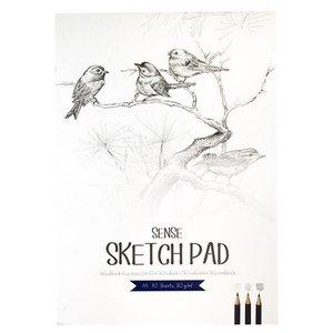 Billigtpyssel.se | Skissblock 80g Sense FSC - A4 70 blad