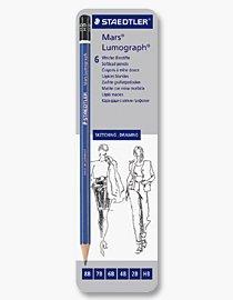 Billigtpyssel.se | Skisspennor - Mars Lumograph (set om 6 st HB-8B)