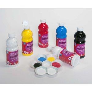 Billigtpyssel.se | Skolfärger L&B Glossy 500 ml- 6 Färger