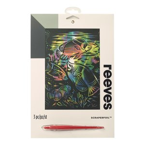 Billigtpyssel.se | Skrapkonst Rainbow - 20x25cm