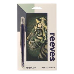 Billigtpyssel.se | Skrapkonst Reeves Guld - 18x11cm
