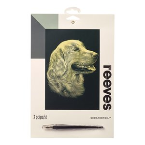 Billigtpyssel.se | Skrapkonst Reeves Guld - 20x25cm
