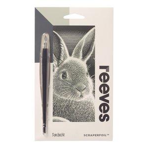Billigtpyssel.se | Skrapkonst Silver - 18x11cm