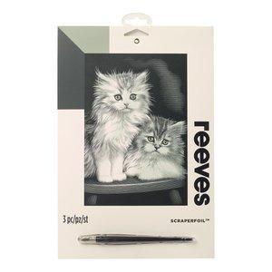 Billigtpyssel.se | Skrapkonst Silver - 20x25cm