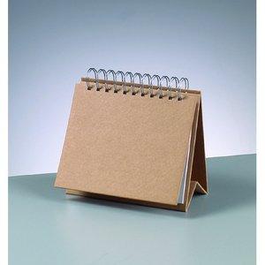 Billigtpyssel.se | Skrivbordskalender 17 x 15 cm - brun 12 sidor