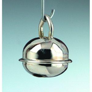 Billigtpyssel.se | Små runda bjällror 15 mm - silverfärgade 8 st.