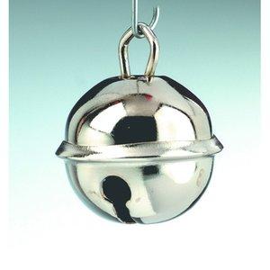 Billigtpyssel.se | Små runda bjällror 24 mm - silverfärgade 3 st.