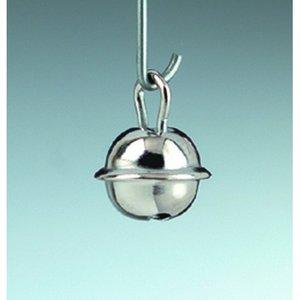 Billigtpyssel.se | Små runda bjällror 9 mm - silverfärgade 10-pack