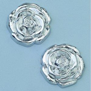Billigtpyssel.se | Smycke ø 20 mm - silverfärgad 2 st. Ros