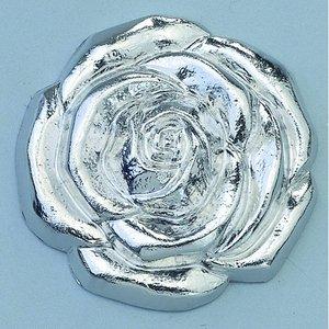 Billigtpyssel.se | Smycke ø 20 mm - silverfärgad ros huvud