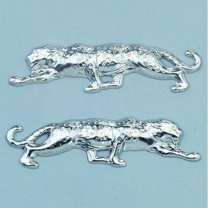 Billigtpyssel.se | Smycke 42 x 9 mm - silverfärgad 2 st. leopard höger / l