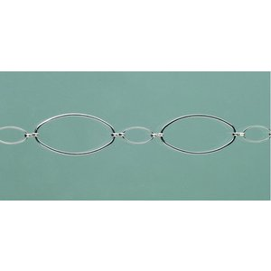 Billigtpyssel.se | Smyckeskedja 25 cm - försilvrad 1 st. oval