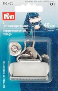 Billigtpyssel.se | Snickarbyx-/Overallspänne stål silverfärg 40 mm 2 st