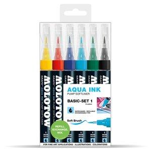 Billigtpyssel.se | Softliner GRAFX Aqua Ink 6 Pennor -Basic I