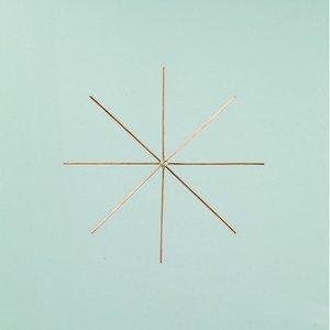 Billigtpyssel.se | Ståltrådsstjärna för pärlor ø 10 cm x 0