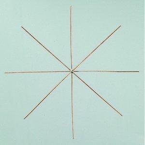 Billigtpyssel.se | Ståltrådsstjärna för pärlor ø 15 cm x 0
