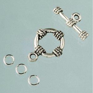 Billigtpyssel.se | Stavlås ø 18 mm - gammalt silver 1 styck