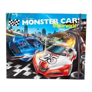 Billigtpyssel.se | Stickersbok Monster Cars - Stickerworld